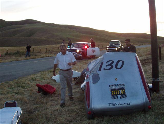 reenactment of james dean car crash